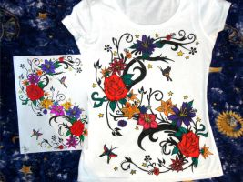 Flowers wawe - T-shirt by Patres68