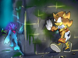 Voltage the Hedgehog by halfway-to-insanity