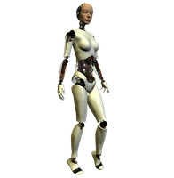 She-Bot : White 002 by Selficide-Stock