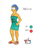 Marge Radical Makeover Aqua by Futurepast63