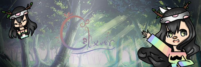Clxver header for twitter (with text) by Blixeo