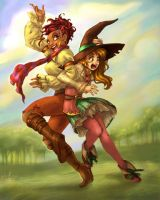the gypsy and the magician by Luthie13