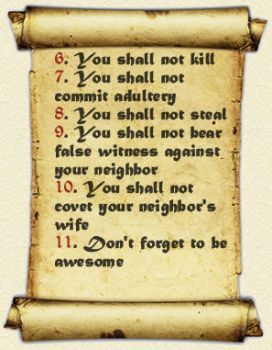 The Eleven Commandments::DFTBA by madnesslab