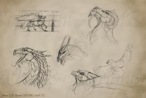 fantasy creatures sketchers by Windshade888