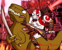 Kratos being even more awesome by BrokenTeapot