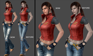 Claire Redfield Edited Model W.I.P by FearEffectInferno