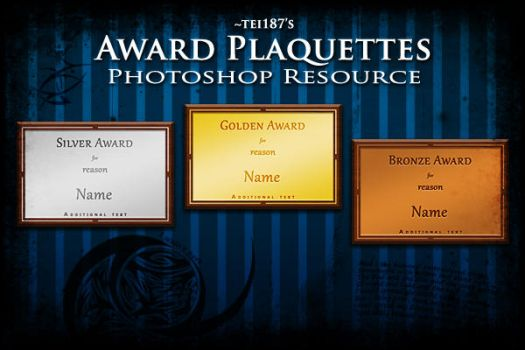 Award Plaquettes PS Resource by tei187