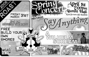 WQAQ Spring Concert flyer by Clanceypants