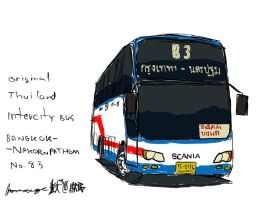 Thailand intercity Bus by ngarage