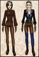 Steampunk Sisters by LadyIlona1984