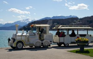 Tourists on train Annecy by lhauert