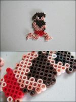 Ghosts n Goblins Aurther running nude bead sprite by 8bitcraft