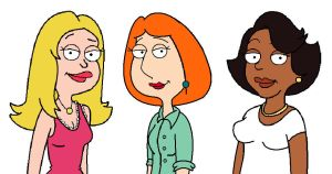 Francine, Lois and Donna by Funderville