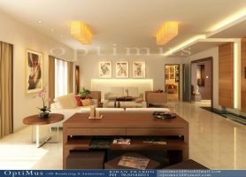 Living room 3d by optimus3d