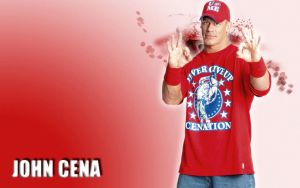 WWE John Cena red by Gogeta126