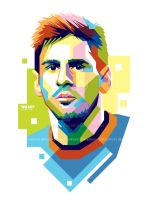 Lionel Messi in WPAP by aryakuza