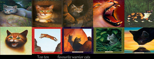 Top Ten Favourite Warrior Cats by Snowypelt