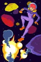 Blast O Naut Game Over Screen by indie-illustrator