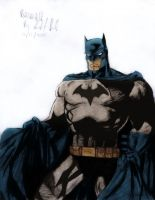 Batman art colored by Panther10