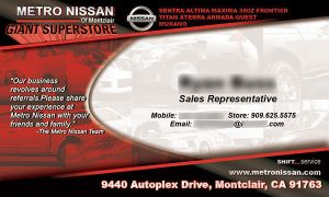 Metro Nissan Business Card by EvlD