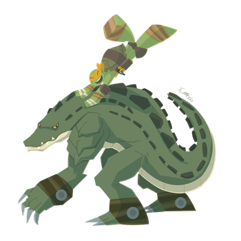 Leatherhead, Mikey by ogakyou