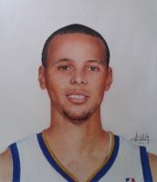 Stephen Curry ballpoint pen drawing by ATCdrawings