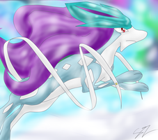 Suicune-The Crystal Guardian by ShadowTheZoroark