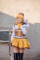 Tomoe mami and Kyuubey by cloeth