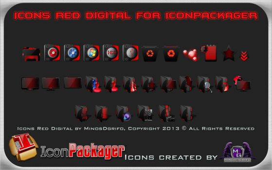 Icons Red Digital for Iconpackager by DShepe