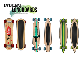 Papierkumpel Longboards by anouki-morgenstern