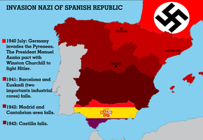 invasion nazi of Spanish Republic by dlink97