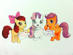 Aninite Commission #11 - The Cutie Mark Crusaders by SomedaySakuhin