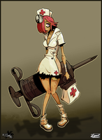 Lysol-Jones Zombie Nurse by Cique