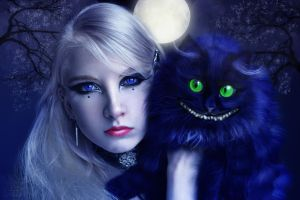 Alice and Cheshire by Polinamay
