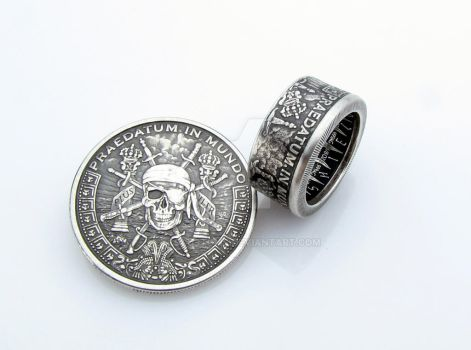 Pirate Pieces of Eight Coin Ring by TCSCustoms