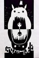 Totoro by TheDerpyArtistBen