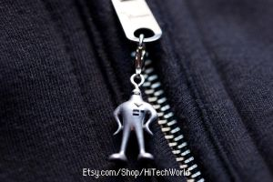 Starman from Earthbound Zipper pull Charm by EvilNinjaChris