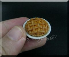 Miniature Peach Pie by ToothFairyMiniatures