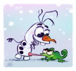 Olaf from Frozen and Pascal from Tangled by princekido