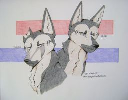 Ginga: Jerome and John by Huskypawz