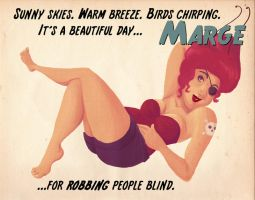Marge Pin Up by rosalarian