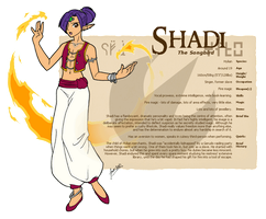 Character Guide - Shadi by foxlee