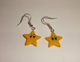 Mario Star Earrings by ByToothAndClaw