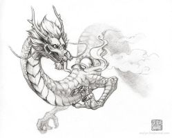 Eastern Dragon Sketch by Seylyn