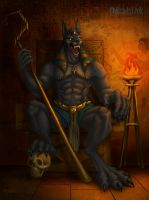 Anubis Lord Of the Dead by railrunnermiranda