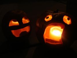 Old Halloween Pumpkins by Isaia