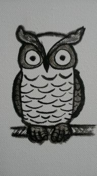 Black white owl - Painted by DoubleSNL