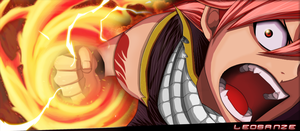 Natsu Dragneel 283 | Electric Flames! by Leosanze