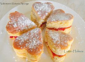 Valentine's Victoria Sponge by Lotte-Holmes