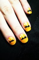 Batty Nails by GrotesqueDarling13